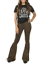 Rock & Roll Cowgirl Women's Bell Bottom Fringe Leggings
