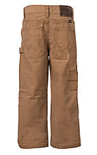 Wrangler Boys Brown Canvas Carpenter Pants 4-7