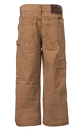Wrangler Boys Brown Canvas Carpenter Pants 4-7
