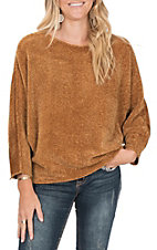 Ethyl Women's Gold Dolman Sweater