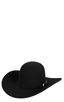 Cavender's 7X Black Open Crown Felt Cowboy Hat