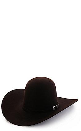 American Hat Company Men's 7X Lucky 7 Black Cherry Open Crown Felt Cowboy Hat