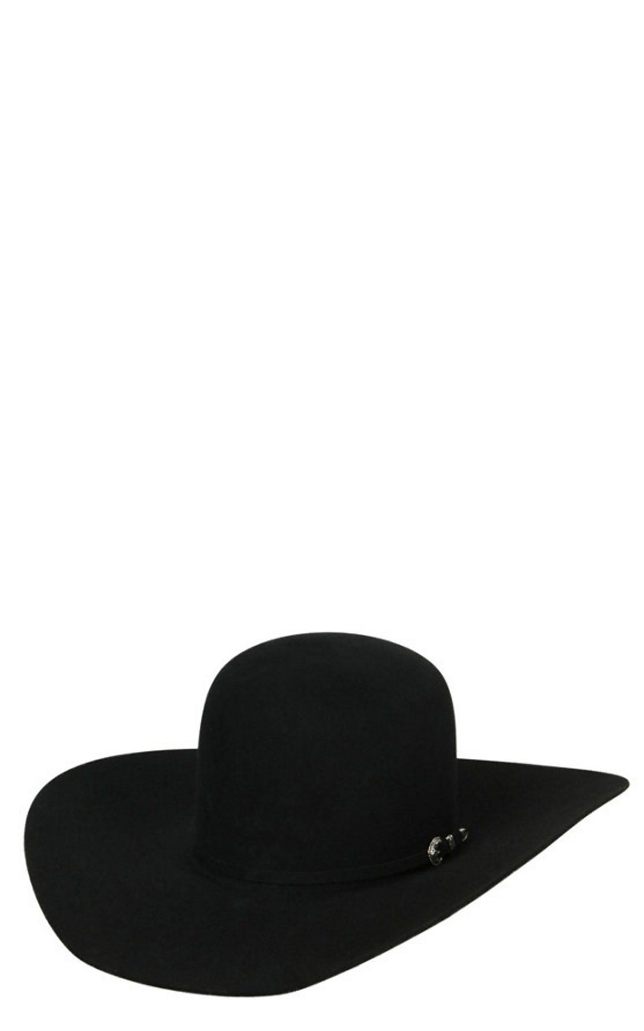 Rodeo King 7X Open Crown Black Felt Cowboy Hat 7XBLKOC45 e1d36f4a19c