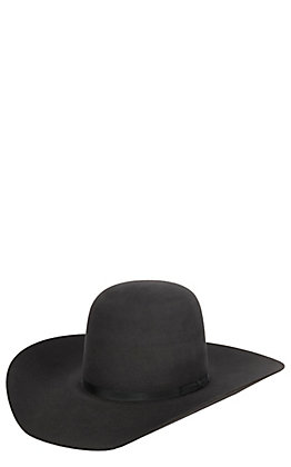 a58018580e8bc Resistol 6X Black Rock Felt Cowboy Hat.  230.00. Rodeo King 7X Charcoal  Open Crown Hat