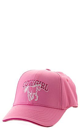 Cowgirl Hardware Toddlers' Pink Cowgirl Horse Embroidered Cap