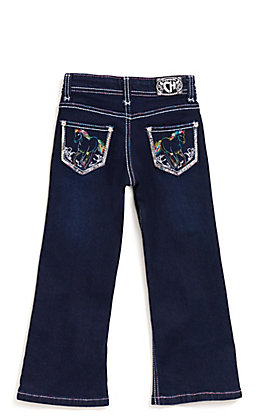 Cowgirl Hardware Toddler Rainbow Horse Jeans