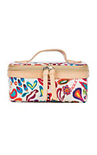 Consuela White Swirly Mini Train Case