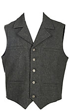 Schaefer Men's Cattle Baron Grey Melton Wool Vest