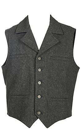 Schaefer Men's Cattle Baron Grey Melton Wool Vest