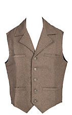 Schaefer Men's Cattle Baron Tan Melton Wool Vest