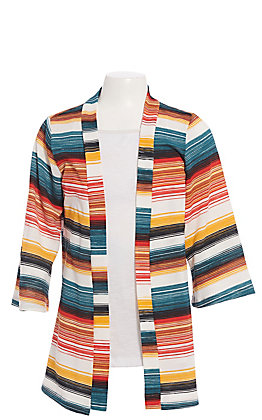 Jody Girls' Multi Color Striped Kimono