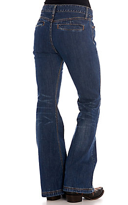 Cinch Women's Lynden Dark Wash Trouser Jeans