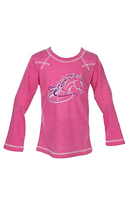 dca301d9 Cowgirl Hardware Infants Beautiful Long Sleeve Heather Grey T-Shirt