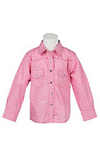 Cowgirl Hardware Pink Flower Field L/S Western Shirt