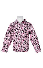 Cowgirl Hardware Toddler Pink Country Floral L/S Western Snap Shirt