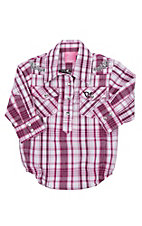 Cowgirl Hardware Infant Pink Plaid Western Onesie