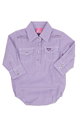 Cowgirl Hardware Infant Lavender Embroidered Western Onesie