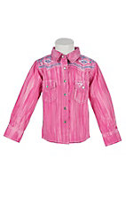 Cowgirl Hardware Toddlers Brush Dye Long Sleeve Rhinestone Snap Western Shirt
