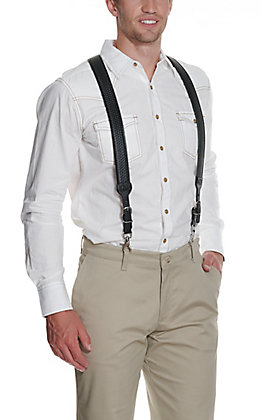 Nocona Black Basket Weave Suspenders
