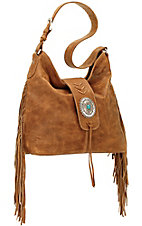 American West Seminole Collection Deerskin Soft Shoulder Hobo Bag
