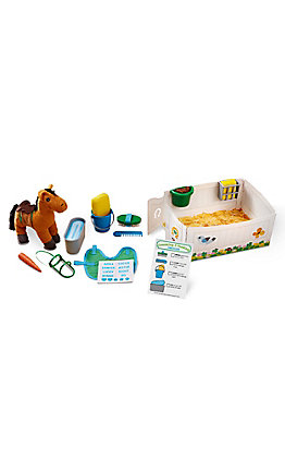 Melissa & Doug Feed and Groom Horse Care Play Set