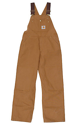 Carhartt Kids' Brown Washed Bib Overall Sizes 4-7