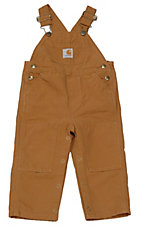 Carhartt Toddlers' Brown Washed Bib Overall Sizes 2T-4T