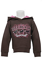 Cowgirl Hardware Infants Brown with Running Wild Logo Pullover Hoodie