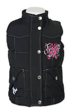 Cowgirl Hardware Black Nylon Vest
