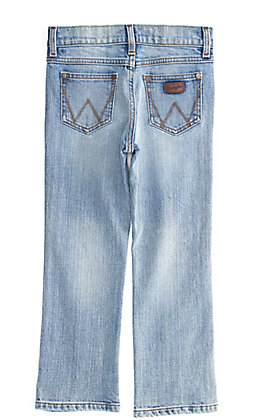 Wrangler Retro Boy's Light Wash Slim Straight Leg Jeans (8-16)