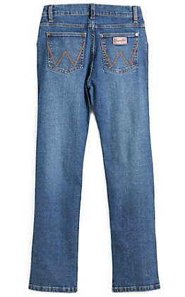 Wrangler Retro Boys' Red River Medium Wash Slim Fit Straight Leg Jeans (8-18)