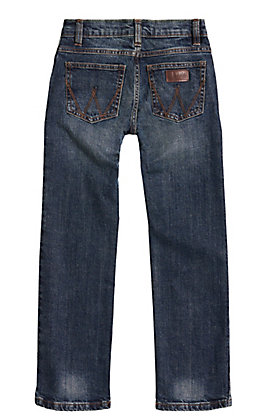 Wrangler Retro Boys' Bozeman Dark Wash Slim Fit Straight Leg Stretch Jeans (1T-7)