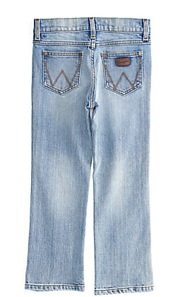 Wrangler Retro Boy's Light Wash Slim Straight Leg Jeans (4-7)