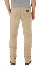 Wrangler Retro Men's Khaki Slim Fit Straight Leg Open Pocket Jean