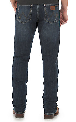 Wrangler Retro Men's Dark Wash Slim Fit Straight Leg Stretch Jean