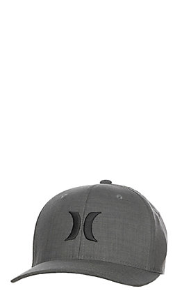 Hurley Crosshatch Black Textures FlexFit Cap