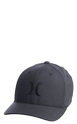 Hurley Dri-Fit One and Only Black Texture FlexFit Cap