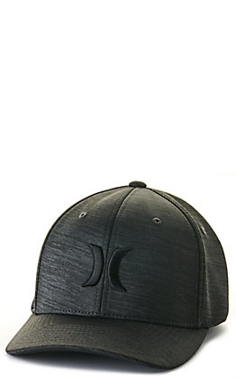 Hurley Black Textured with Black Embroidery Cap