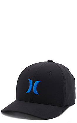 Hurley Men's Black Drifit One & Only Blue Logo Hat