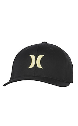 Hurley One and Only Black and Yellow FlexFit Cap