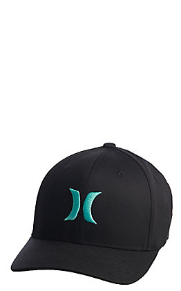 Hurley One and Only Black with Tropical Green FlexFit Cap