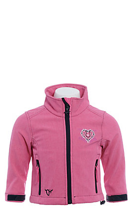Cowgirl Hardware Infant/Toddler Girl's Wild & Free Heather Pink Soft Shell Jacket