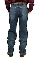 Cinch Men's Medium Stonewash Black Label 2.1 Mid Rise Relaxed Fit Straight Leg Jean 90633007