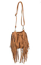 nuG Tan with Fringe Bucket Bag