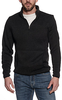 Powder River Outfitters by Panhandle Men's Black Quarter Zip Pull Over