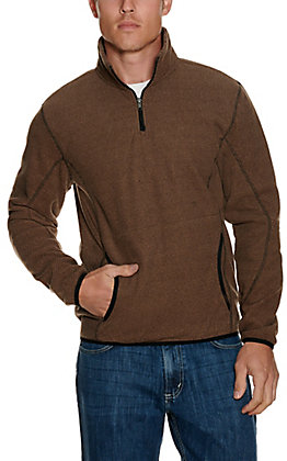 Panhandle Powder River Outfitters Men's Brown Waffle Knit Pullover