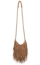 nuG Brown with Layered Fringe Purse