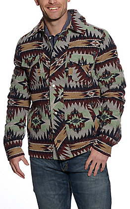 Powder River Outfitters by Panhandle Men's Mint Aztec Print Jacket