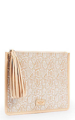 Consuela Anything Goes Clay with Ivory Snake Print Pouch
