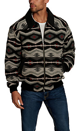 Panhandle Powder River Outfitters Black & Grey Aztec Print Jacket